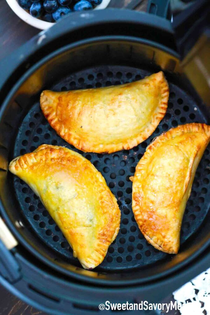 air fried blueberry hand pies