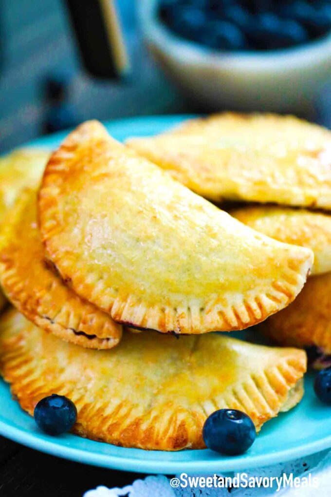 hand pies with fresh blueberries