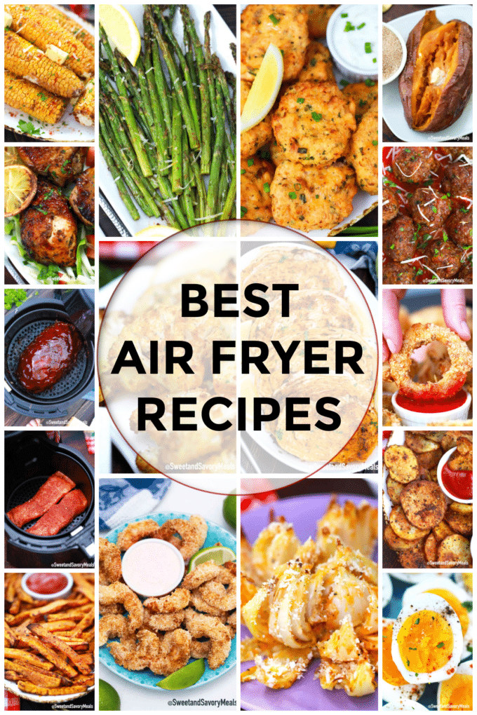 photo collage of best air fryer recipes