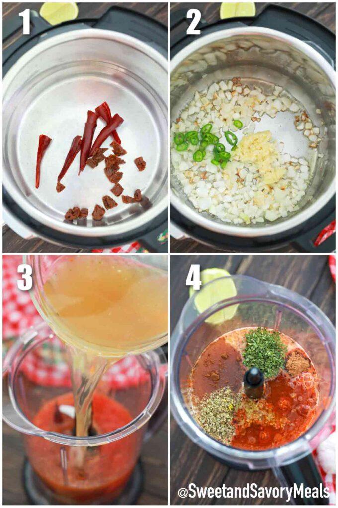 steps how to make instant pot Birria
