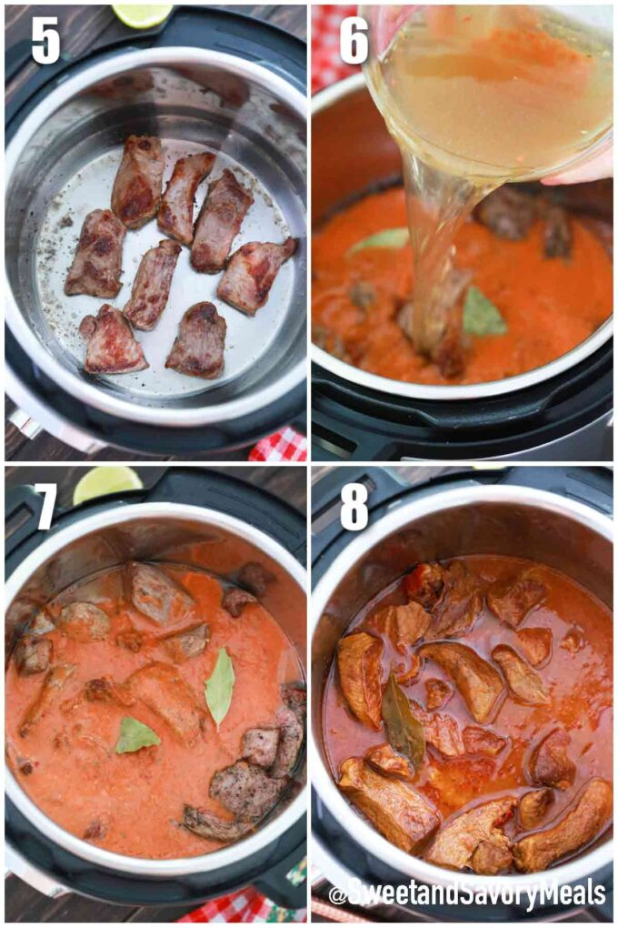steps how to make Birria in the instant pot
