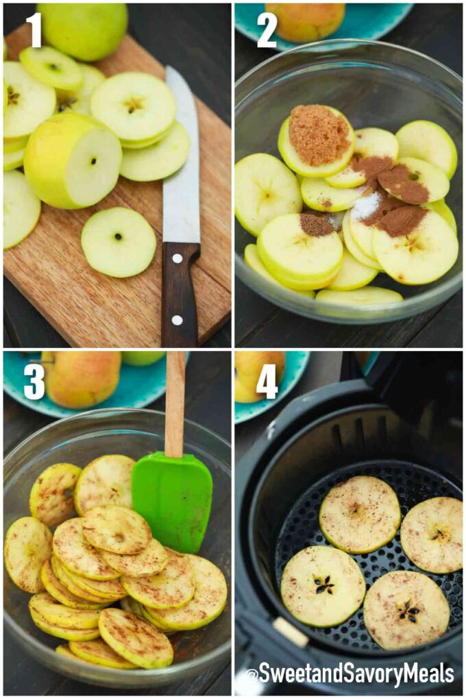 steps how to make air fryer apple chips