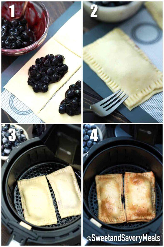 steps how to make air fryer pop tarts