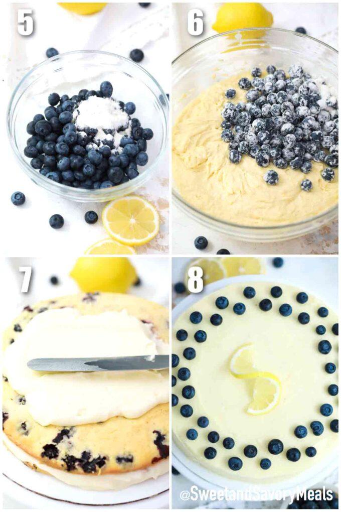steps how to make lemon blueberry cake