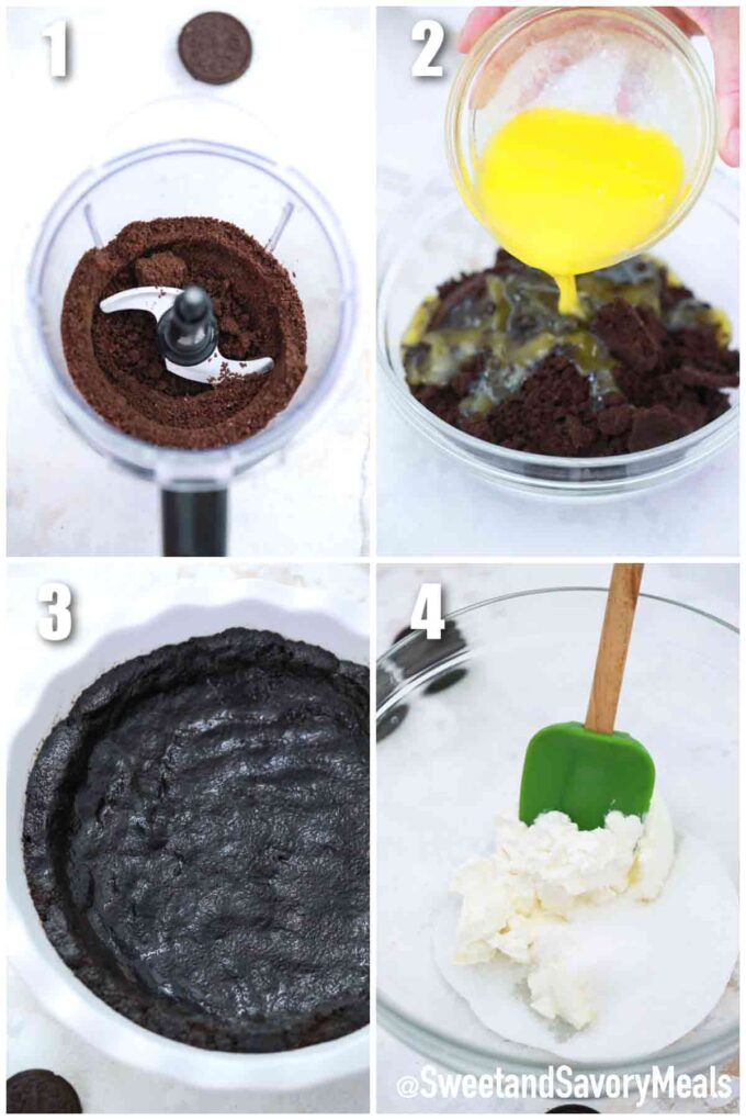steps how to make Oreo Pie crust