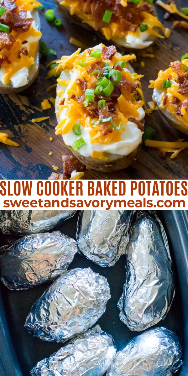 easy slow cooker baked potatoes pin