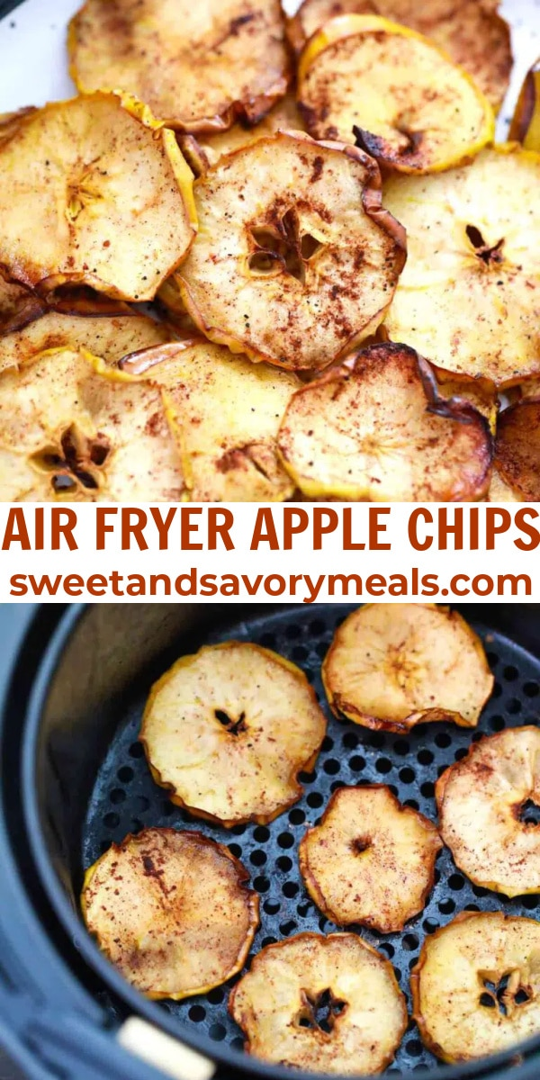 easy air fryer apple chips pin
