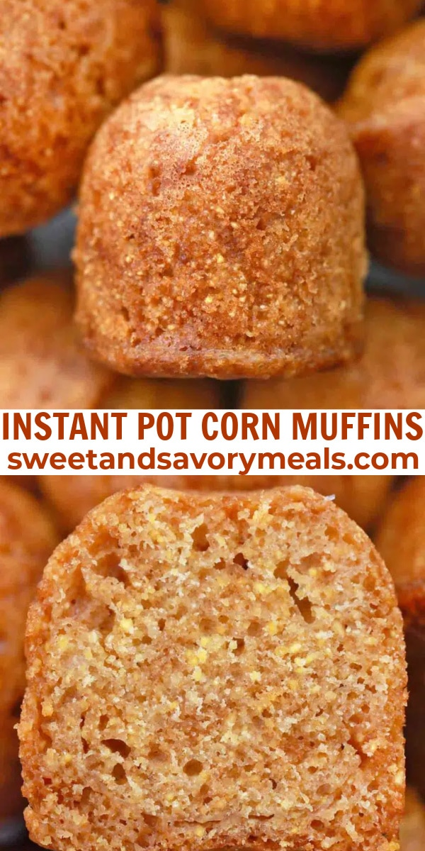 easy instant pot corn muffins pin