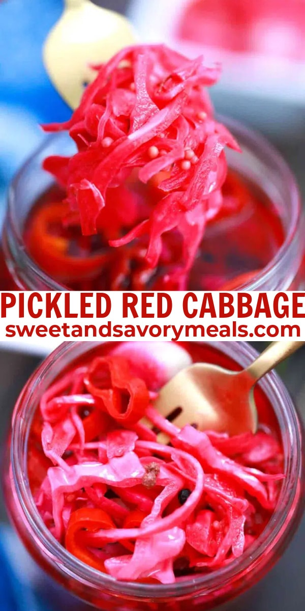 easy pickled red cabbage pin