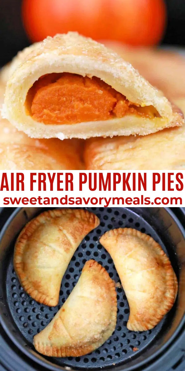 easy air fryer pumpkin pies pin