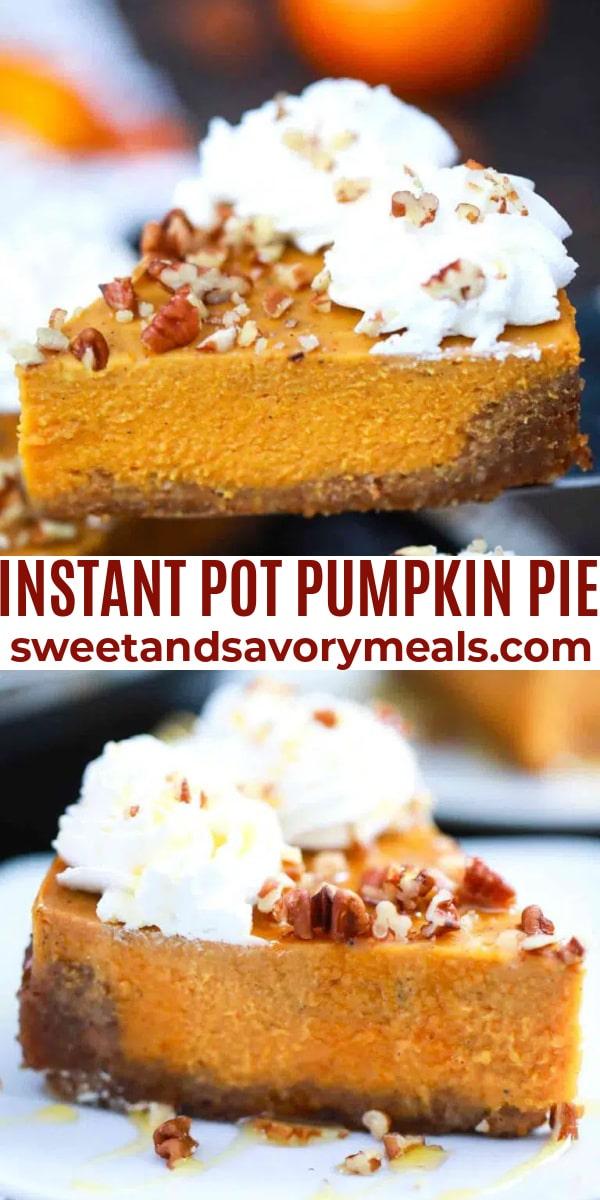 easy instant pot pumpkin pie pin