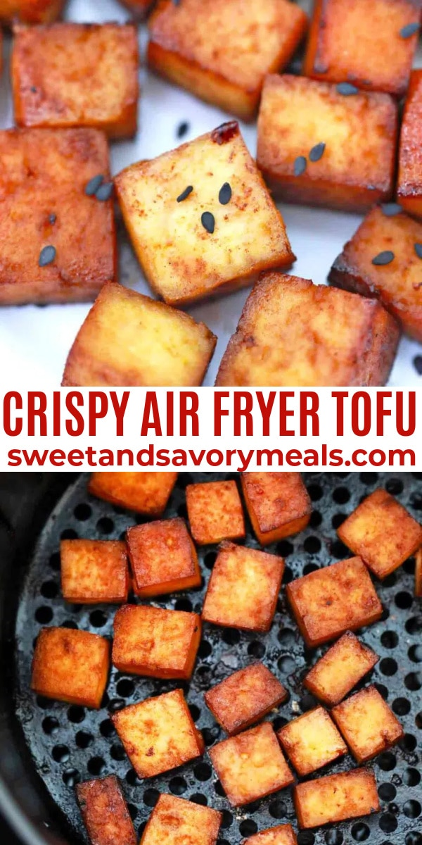 easy air fryer tofu pin