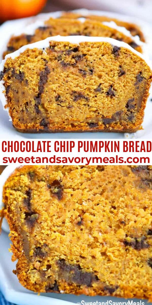 easy chocolate chip pumpkin bread pin