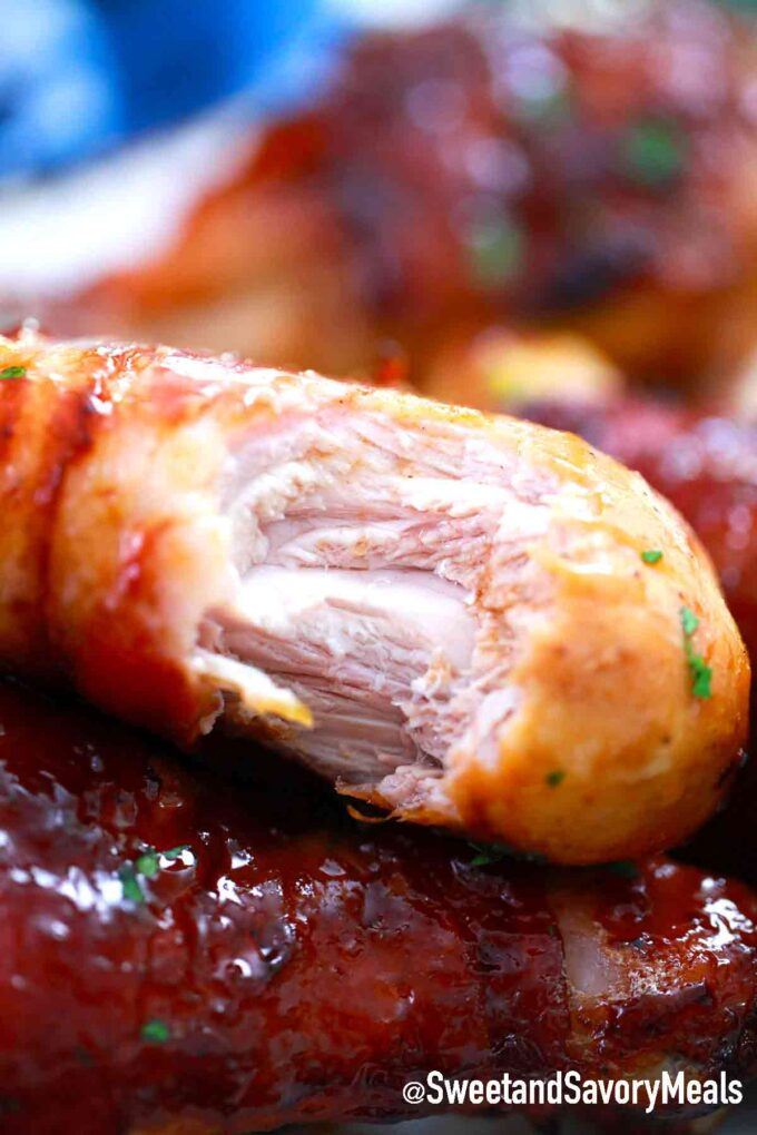 cooked chicken drumstick
