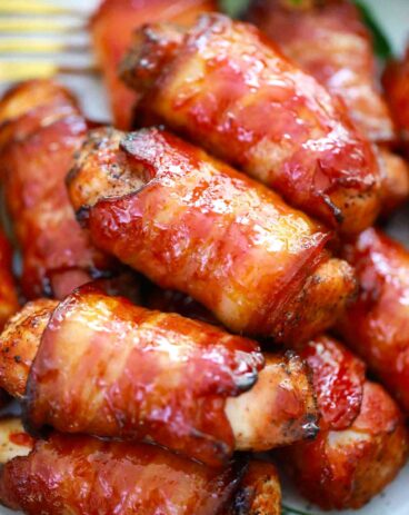 Air Fryer Bacon Wrapped Chicken Tenders