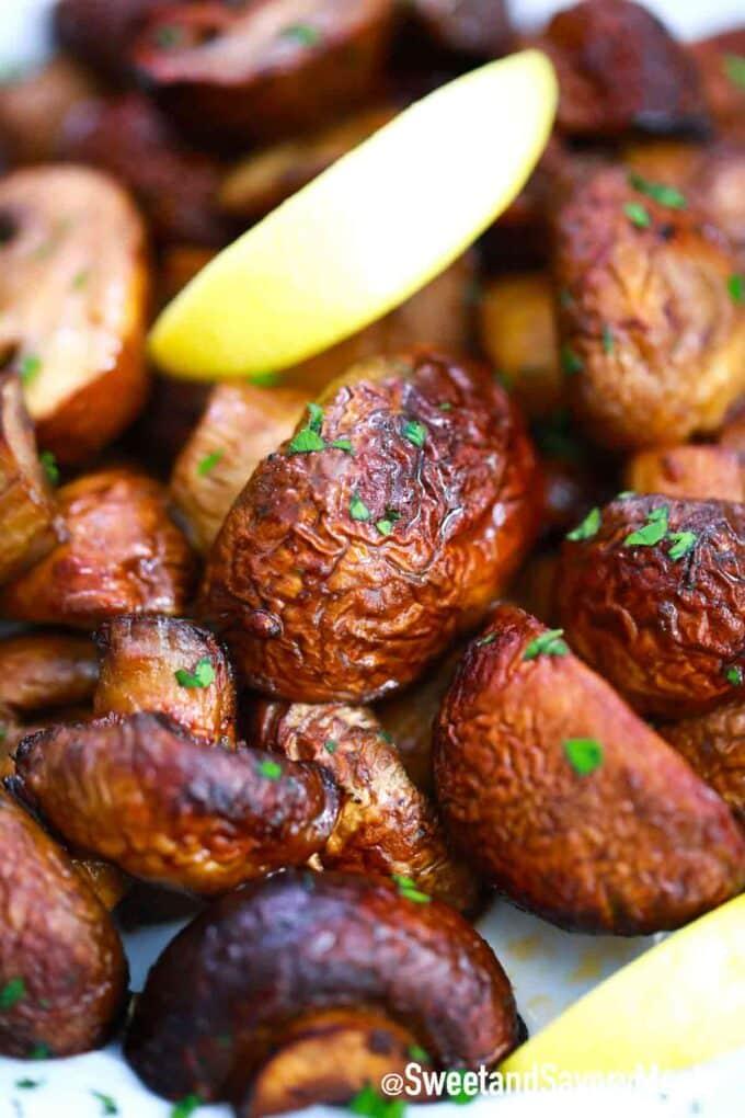 crispy cooked mushrooms