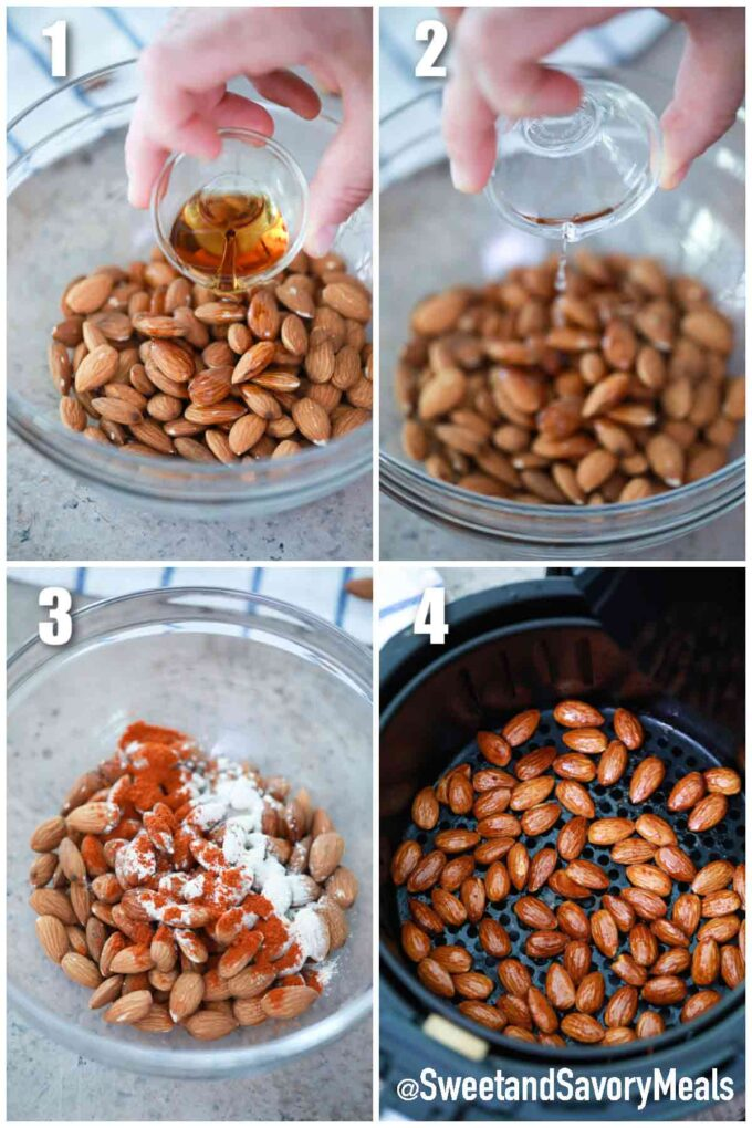 steps how to make air fryer almonds