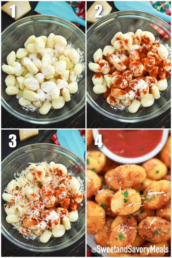 steps how to make air fried gnocchi