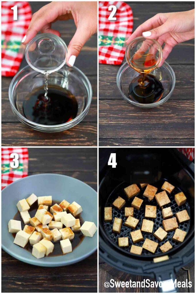 steps how to make air fryer tofu
