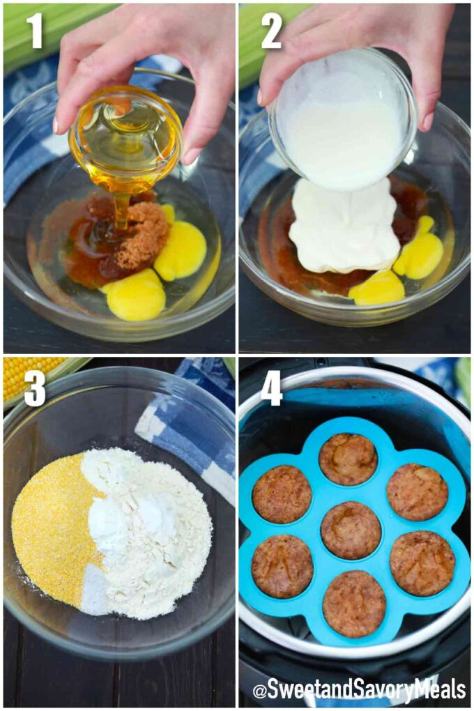 steps how to make instant pot corn muffins