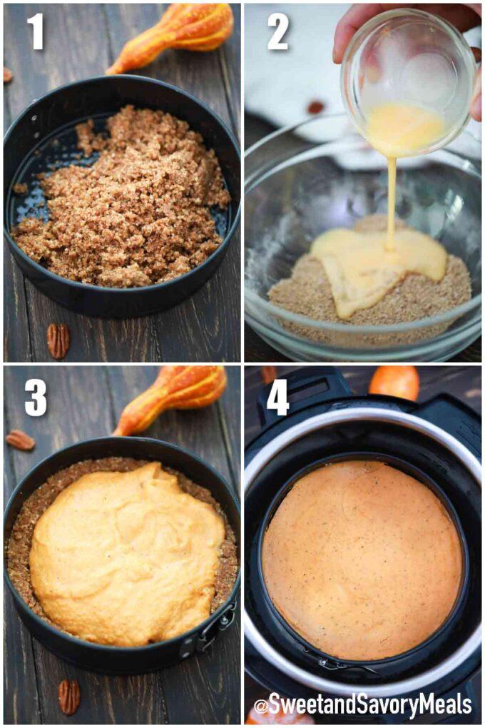 steps how to make instant pot pumpkin pie