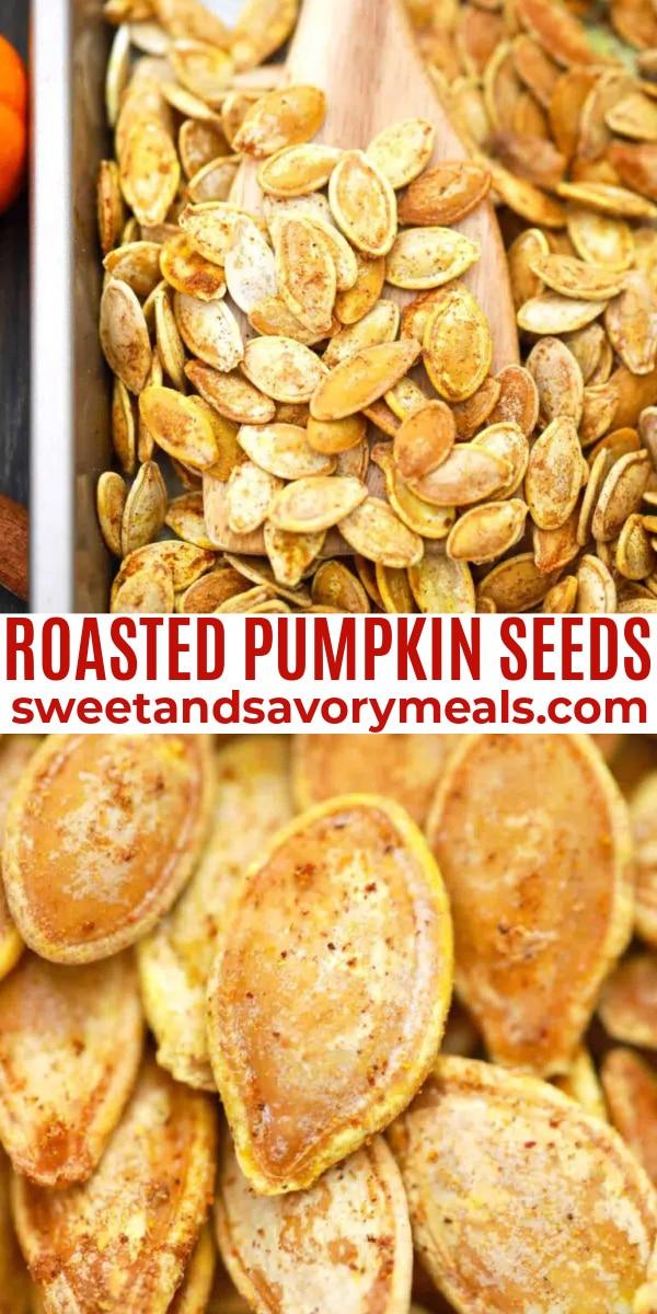easy roasted pumpkin seeds pin
