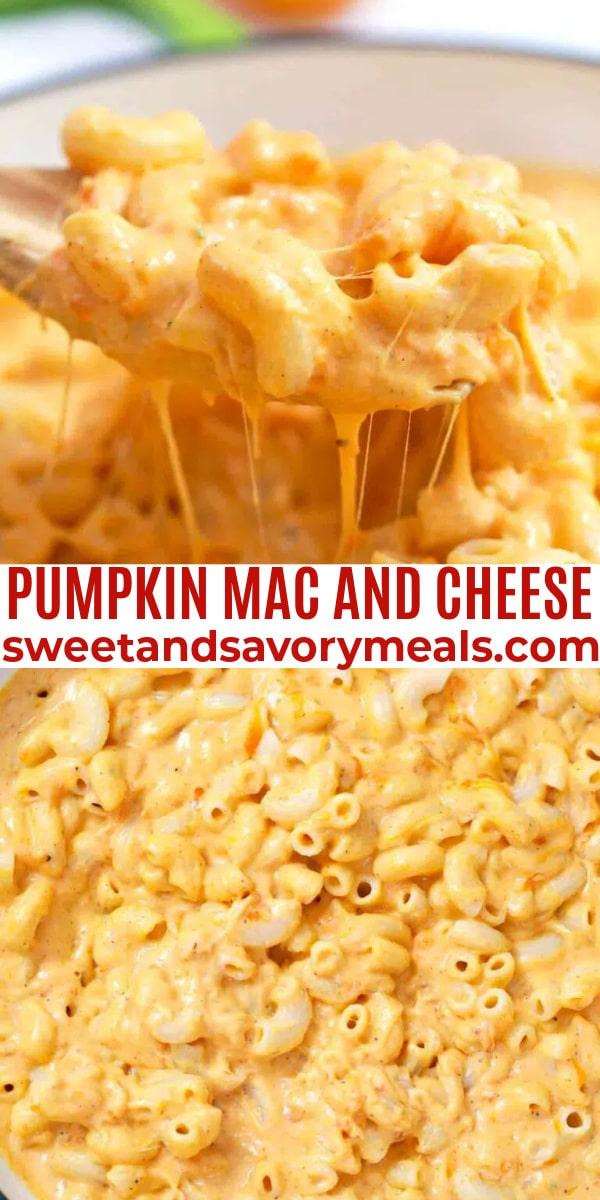 easy pumpkin mac and cheese pin