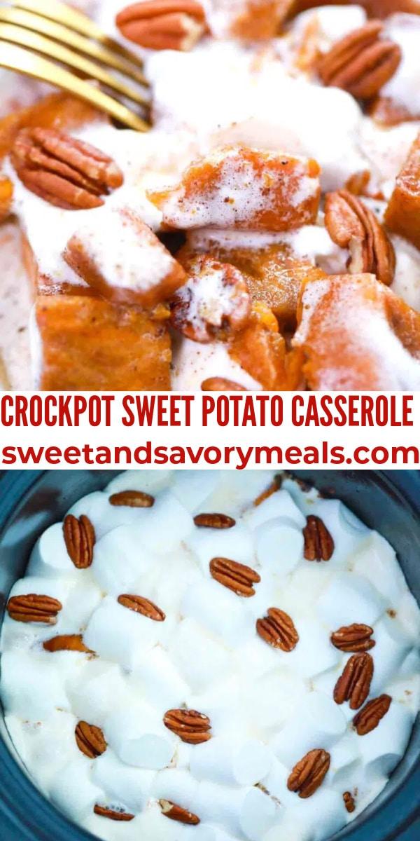 easy crockpot potato casserole pin