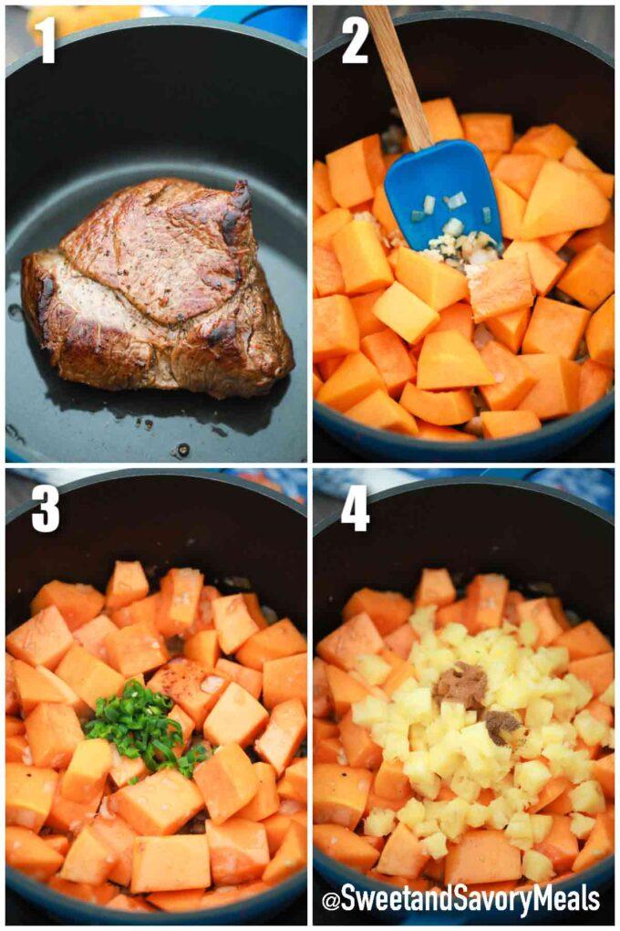 steps how to make pumpkin pot roast