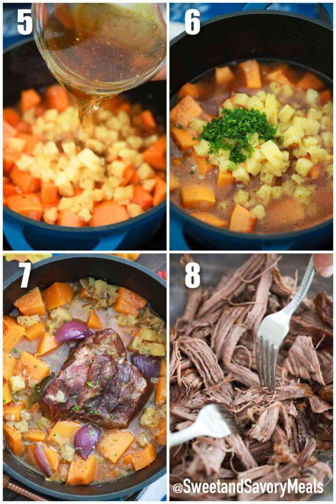 photo collage how to make pumpkin pot roast