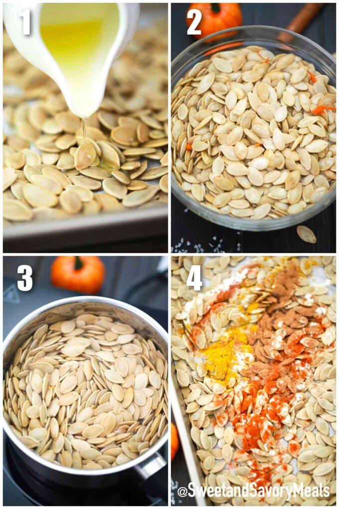 steps how to make roasted pumpkin seeds